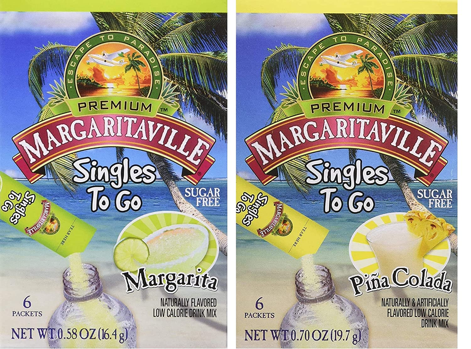 Margaritaville Singles Max 90% OFF To Go Water Mix Mail order cheap Non-Alcoho Flavored Drink