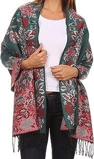 Sakkas Ontario double layer floral Pashmina/Shawl/Wrap/Stole with fringe