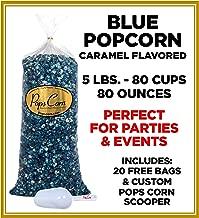 Gourmet Pops Corn It's a Boy-BULK/WHOLESALE BLUE POPCORN-5 GAL.-80 CUPS-80 OZ-FREE SCOOPER!! (Blue Caramel)