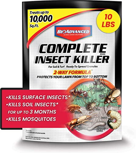 BAYER CROP SCIENCE 700288S Complete Insect Killer for Soil & Turf Pest Control, 10-Pounds, Ready-to-Spread Granules, ...