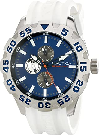 Nautica Mens N15567G BFD 100 Multifunction Blue Dial Watch