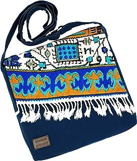 AFROZAN Bolso bandolera multicolor de tela - Accesorios elegantes de mujer - Talla Small 26 x 28 x 5 - Modelo: NAZI