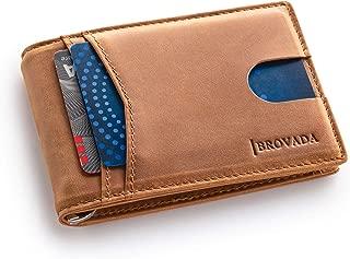 BROVADA RFID Wallets for Men Money Clip Wallet Slim Wallet Minimalist Wallet with Smart Design