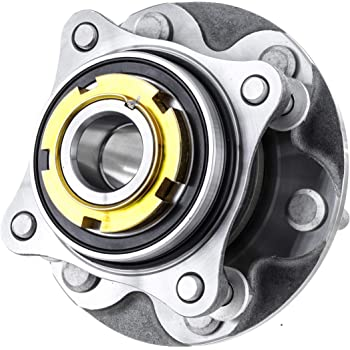 [1-Pack] 950-004 Front Wheel Hub and Bearing Assembly Compatible With [Toyota] 2005-2015 Tacoma Pre Runner, 2016-2019 Tacoma 2WD (RWD), 2003-2019 4Runner 2WD (RWD), 2007-2009 FJ Cruiser 2WD (RWD)