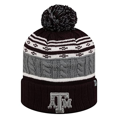 Top of the World Texas A M Aggies Official NCAA Cuffed Knit Altitude Beanie  Stocking Stretch Sock b17d9b7fb97c