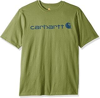e046fb996933 Carhartt Men s Signature Logo Short Sleeve Midweight Jersey T-Shirt K195