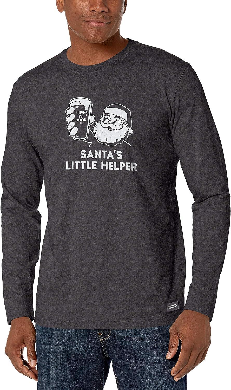 Life is Good Free online shopping shipping Men's Crusher Longsleeve Shirt