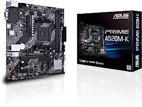 ASUS Placa mãe PRIME A520M-K AMD AM4 (3ª geração Ryzen) Micro-ATX (memória ECC, suporte M.2, Ethernet 1Gb, M.2, USB 3.2 Ge...