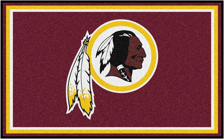 FANMATS NFL Washington Redskins Nylon Face 4X6 Plush Rug