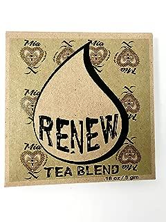 Re & Restore Intention Tea - Reiki Infused and Blessed Herbal Tea in Re-usable Muslin Tea Bag w/ Loose Leaf Rose Petals Gotu Kola Lemon Peel Peppermint Sage, Makes 32 oz. Great Gift