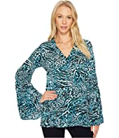 MICHAEL Michael Kors - Big Cat Bell Sleeve Tunic