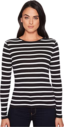 LAUREN Ralph Lauren - Striped Button-Shoulder Top