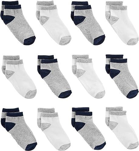 Simple Joys by Carter's Baby and Toddler Lot de 12 paires de chaussettes pour bébé garçon