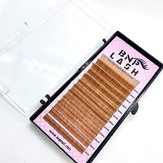 BNP Curl C 0.10 9-15mm Mix Trays Brown Volume Eyelash Extension Silk Antibicterial Lash 3 Colors (Light Brown (Caramel))