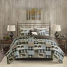 Woolrich Quilt Set, Full/Queen, Twin Falls Brown/Blue