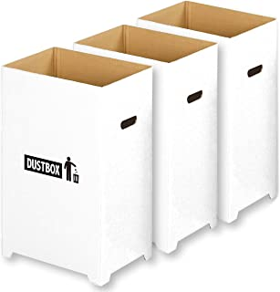 【Amazon.co.jp限定】エムワールド 分別 ゴミ箱 おしゃれ スリム ダンボール ダストボックス 45リットル ゴミ袋 対応 3個組 (汚れに強い 撥水加工)