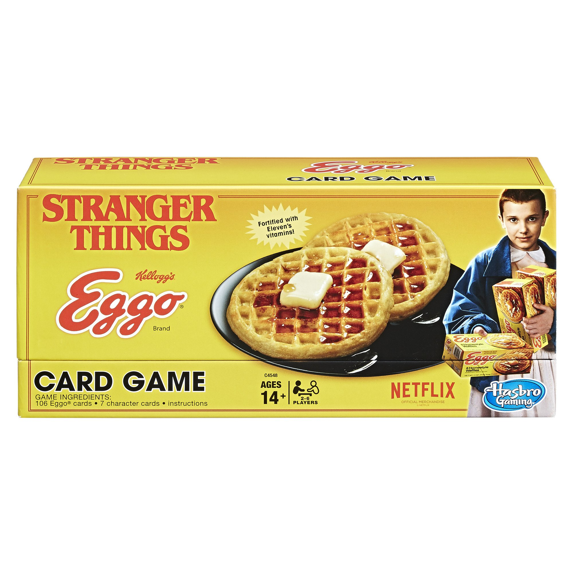 Stranger Things Eggo Card Game Limited Edition: Amazon.co.uk: Toys & Games