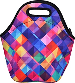 Lunch Box Tote Neoprene Lightweight Fresh-keeping Insulation Heat and cold Waterproof Lunch Bag for Picnic Reusable (Large)