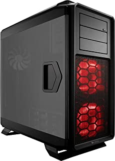 Corsair Graphite 760T v2 - Caja de PC, Full-Tower ATX, Ventana Lateral con Tres AF140 Rojos LED Ventilador, Negro