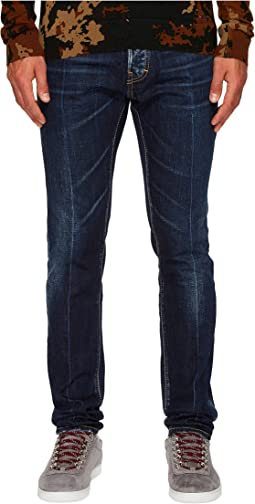 DSQUARED2 - Dark White Sanded Wash Cool Guy Jeans in Blue