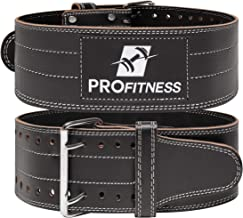 ProFitness Genuine Leather Workout Belt (4 Inches Wide) – Proper Weight Lifting..