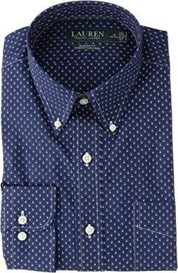 Classic Fit No-Iron Print Cotton Dress Shirt