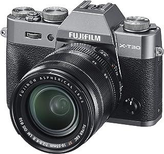 Fujifilm X-T30 bezlusterkowy aparat cyfrowy, srebro węglowe z Fujinon XF18-55 mm F2.8-4 R LM optyczny stabilizator obrazu ...