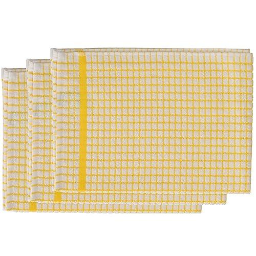 Yellow Tea Towels: Amazon.co.uk
