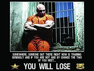 Police Poster Police Workout Police Fitness Police Gifts Police Motivation 18X24 (PWV3)