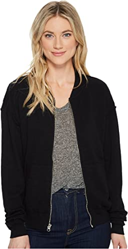 Perforated Terry Rounded Zipper Bomber