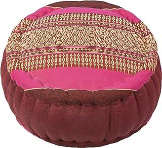 Handelsturm Cojín Zafu para la meditación (34 x 15 cm, cojín con Relleno de kapok), Rosa y Granate