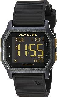 リップカール' Atom ' Quartzプラスチックとシリコンスポーツ腕時計、カラーブラック(モデル: a2701-gol)