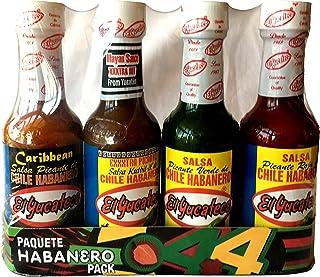 El Yucateco 4 Habanero Hot Sauces Gift Pack, 4 Items by El Yucateco