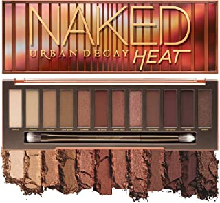 Urban Decay Naked Heat Eyeshadow Palette, 12 Fiery Amber Neutral Shades - Ultra-Blendable, Rich Colors with Velvety Textur...