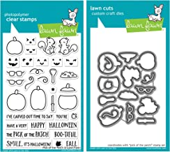 Lawn Fawn Pick of The Patch Clear Stamp Set and Coordinating Lawn Cuts Dies Bundle of Two Items (LF1754 and LF1755)