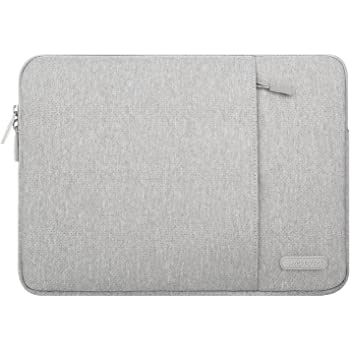 MOSISO Tablet Sleeve Case Compatible with 2020 iPad Pro 11 inch, iPad 7 10.2 2019, 10.5 iPad Air 3, 10.5 iPad Pro, 9.7 iPad, Surface Go, Samsung Galaxy Tab, Polyester Vertical Pocket Bag, Gray