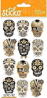 Sticko Halloween Silhouette Sugar Skull Stickers