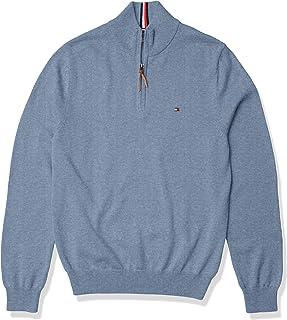 Men's Cotton Quarter Zip Sweater