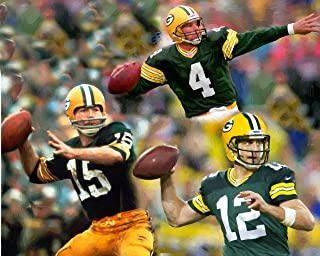 11 x 14 Inch Puzzle Green Bay Packers Quarterback Legends Oil Painting