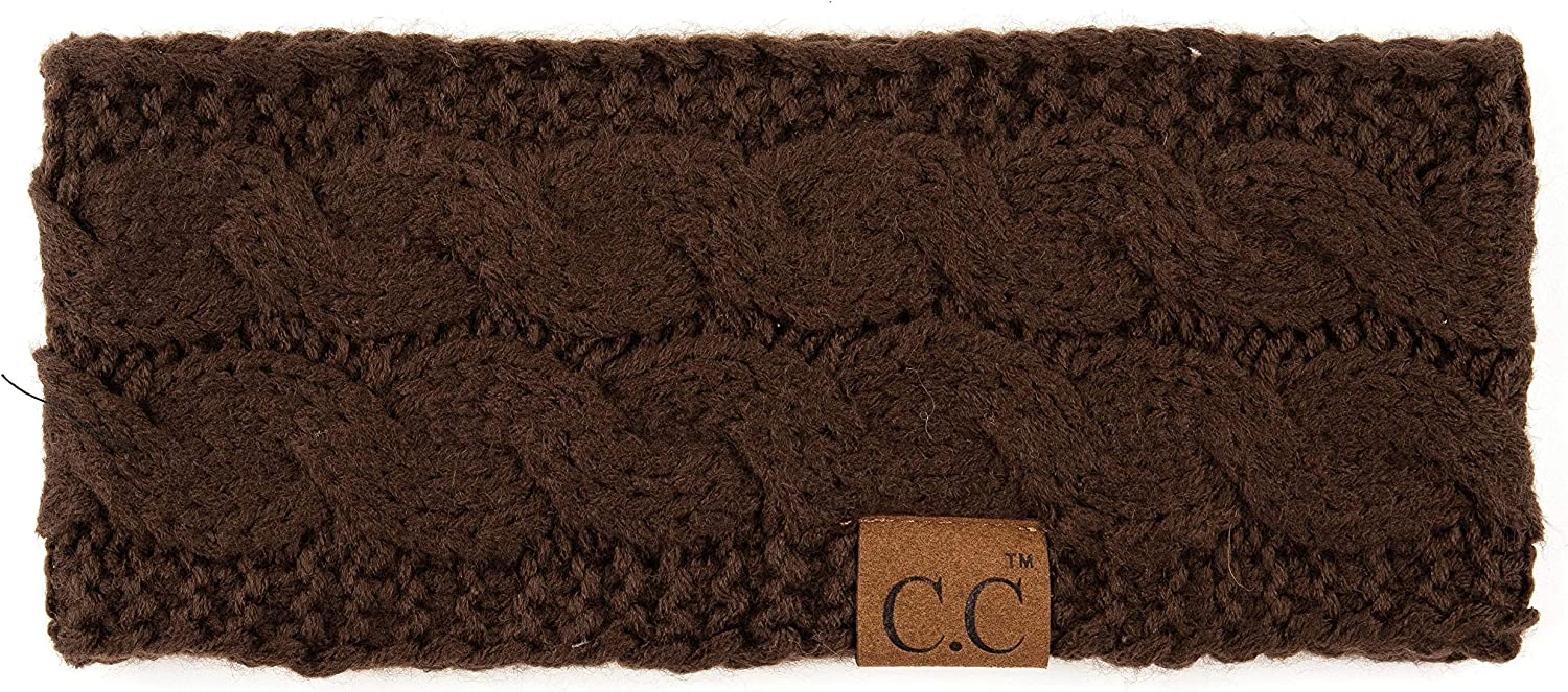 BYSUMMER Cable Knit Ear Warmer Muff Headband For Women and Men For Fall and Winter Cold Weather