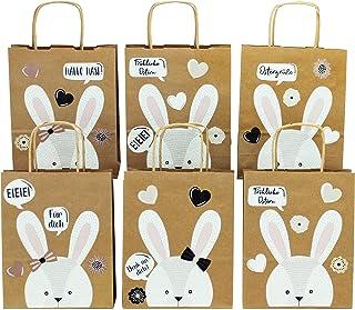 Papierdrachen XXL torebki na prezenty dla dzieci na Wielkanoc – dekoracja wielkanocna – kreatywne gniazdo wielkanocne z 6 ...
