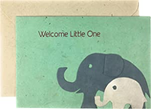 Welcome Little One - New Baby - Elephant - Fair Trade Handcrafted in Nepal