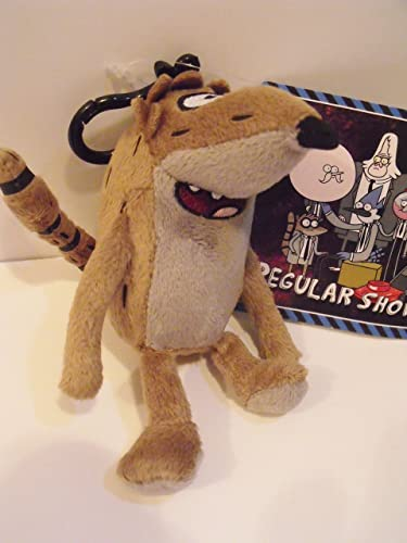 Regular Show Rigby 5 Plush Character Soft Zip Backpack Clip