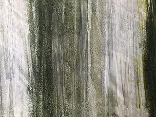 Sage Green, Taupe to Seaglass Green, Spruce Ombre Batik Stripe Watercolor Blender ~ HALF YARD ~ By Wilmington ~ Patt: 5520 Color: 902 ~ Tie Dye (Ikat) Bali Batik Quilt Fabric 100% Cotton 45