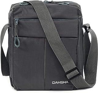 DAHSHA Nylon Padded Sling Cross Body Messenger Travel Office Business Messenger one Side Shoulder Bag for Men Women (20 X ...