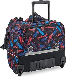 حقائب ظهر باك تو سكول 2020 بعجلات بعجلات مع نظام أفقي مريح 39.17 سم - باللون الأسود من ديلسي باريس