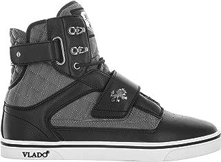 Vlado Footwear Men's Atlas II M Black/Grey Microfiber High Top Sneaker US 8.5