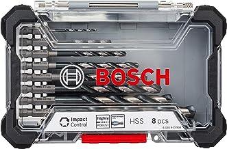 Bosch Professional 8-dlg. Impact Control HSS spiraalboorset (Pick and Click, HEX-9, accessoires slagschroevendraaier)