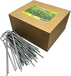Ugold 120 Pack Galvanized Garden Stakes Landscape Staples, 6 inch 11-Gauge, Fence Stake, Ideal for Sturdy Rust Resistant G...