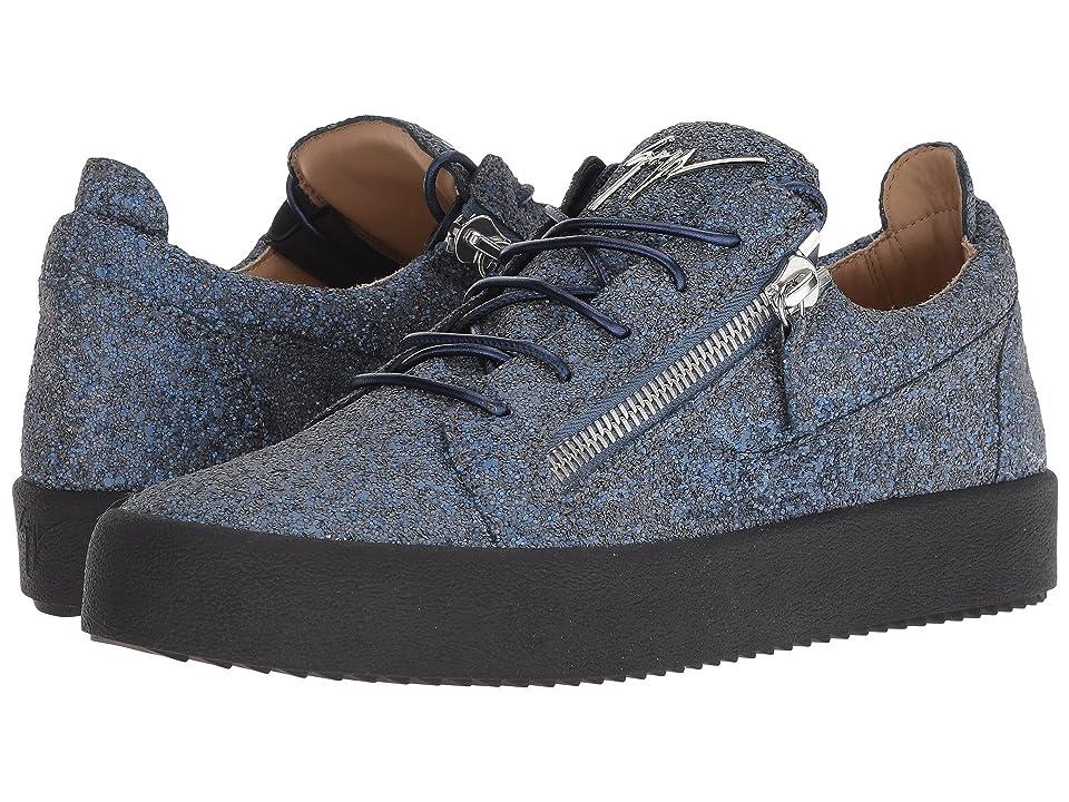 Giuseppe Zanotti May London Glitter Low Top Sneaker (Ocean) Men